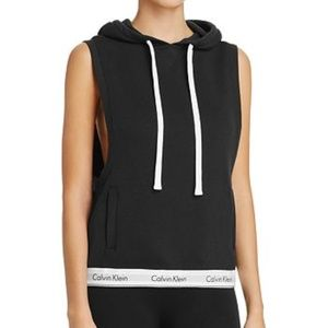 Calvin Klein Sleeveless Lounge Hoodie Black